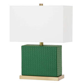 Safavieh Saurian Faux Woven Leather Table Lamp