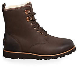 UGG Men's Men's Hannen UGGpure-Lined Leather Combat Boots