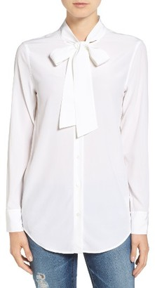 Women's Ag Arley Tie Neck Blouse $278 thestylecure.com