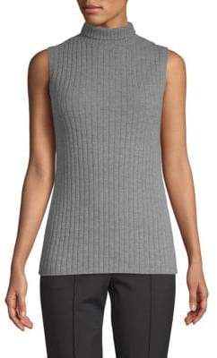 Lafayette 148 New York Ribbed Cashmere Top