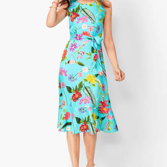 Talbots Floral Soft Fit & Flare Dress