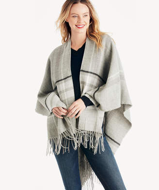 Sole Society Women's Plaid Travel Wrap Grey Combo One Size Acrylic From