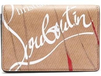 Christian Louboutin - Loubeka Kraft Print Leather Cardholder - Mens - Beige