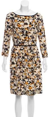 Prada Printed Silk Dress w/ Tags