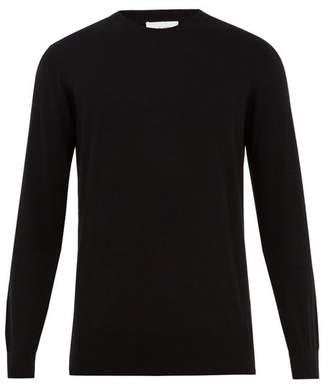 Raey Crew Neck Cotton Knit Sweater - Mens - Black