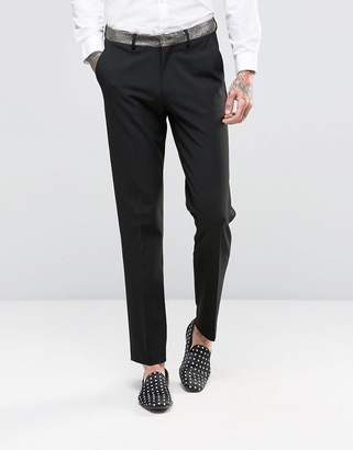 Asos Skinny Suit Pants with Bronze Contrast Detail