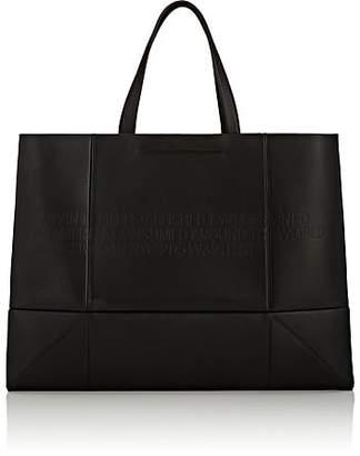 Calvin Klein Women's Amazon East West Leather Tote Bag - Black