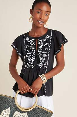 Anthropologie Alexandrine Embroidered Blouse