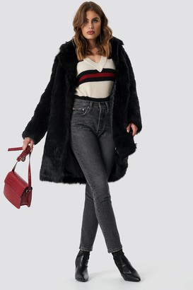 NA-KD Na Kd Faux Fur Collar Long Jacket
