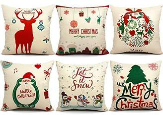 DAY Birger et Mikkelsen 6 Packs Christmas Pillows Covers 18 X 18 Christmas Decorations Pillows Covers Christmas Decorative Throw Pillow Case Sofa Indoor Outdoor Home Décor for Thanksgiving Party Suppliers