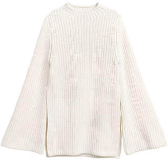 H&M Knit Cotton Sweater - White