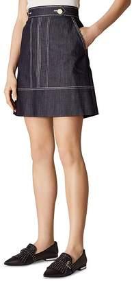 Karen Millen Denim A-Line Skirt