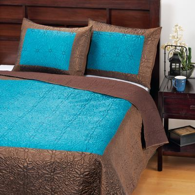 Teal/Java Lotus Bedding