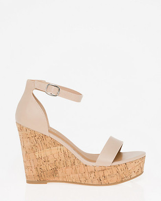 Le Château Faux Leather Wedge Sandal