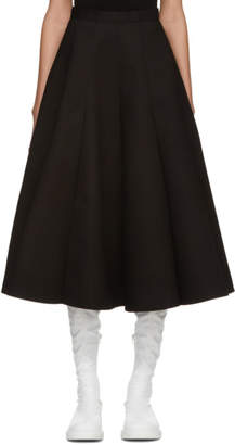 Junya Watanabe Black Panelled Circle Skirt