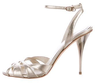 Christian Dior Metallic Multistrap Sandals