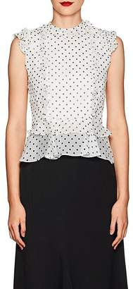 Laura Garcia Collection Women's Arielle Dotted Silk Peplum Blouse