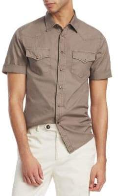 Brunello Cucinelli Leisure-Fit Short-Sleeve Shirt