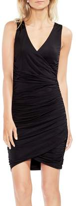 Vince Camuto Ruched Liquid Knit Body-Con Dress