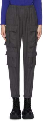 Prada Check plaid wool cargo jogging pants