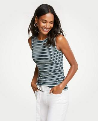 Ann Taylor Striped Knit Shell