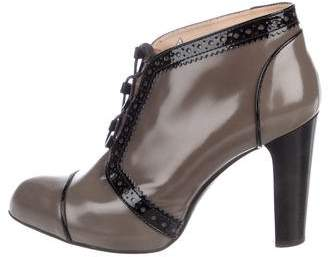 Tod's Patent Leather Pointed-Toe Booties