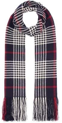 Isabel Marant Carlyna plaid cashmere scarf