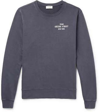 Frame Printed Loopback Cotton-Jersey Sweatshirt