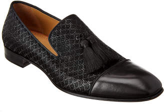Christian Louboutin Officialito P Jacquard Scallop & Leather Loafer