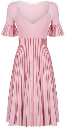 Jonathan Simkhai Metallic Pleated Bustier Dress