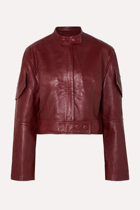 Petar Petrov Malen Leather Jacket - Red