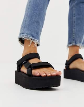 cfcf423dda Teva flatform universal chunky sandals in black