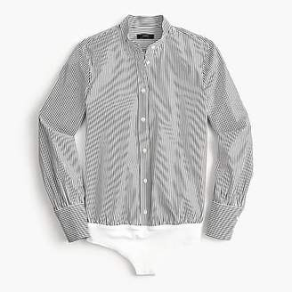 J.Crew Petite stretch tailored perfect bodysuit in stripe