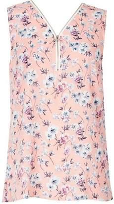 Dorothy Perkins Womens *Tenki Pink Floral Zip Top