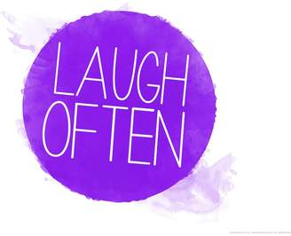 "Art.com Laugh Often"" Wall Art Print"