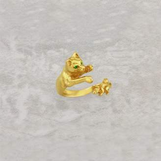 Simon Kemp Jewellers Cat And Mouse Ring In Solid Gold