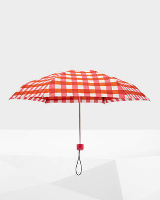 Hunter Mini Gingham Compact Umbrella