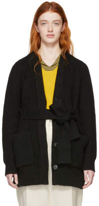 Proenza Schouler Black Cotton and Cashmere Cardigan