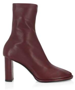 The Row Tea Time Leather Zip Booties