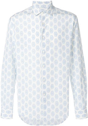 Salvatore Ferragamo printed slim fit shirt
