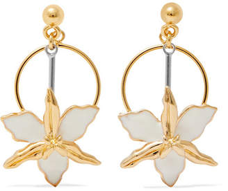 Gold-tone, Silver-tone And Enamel Earrings