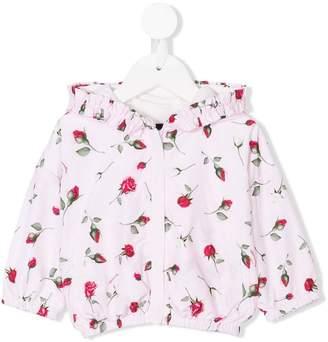 MonnaLisa rose print raincoat