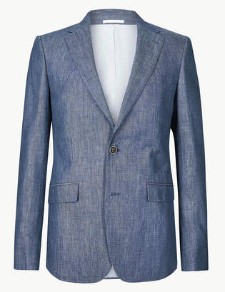 d38afdc71c M&S CollectionMarks and Spencer Regular Fit Linen Jacket