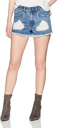 Parker Lily Women's Juniors Casual Distressed Ripped Denim Shorts