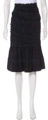 Ermanno Scervino Ruched Knee-Length Skirt