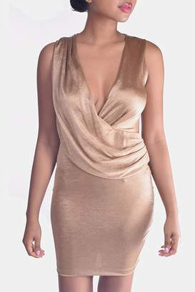 Mystic Drape Front Dress