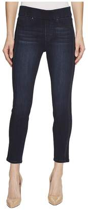 Liverpool Petite Sophia Ankle Pull-On with Seaming Detail in Silky Soft Stretch Denim in Dunmore Dark Women's Jeans
