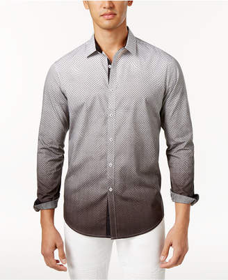 INC International Concepts I.n.c. Men's Ombre Geometric Pattern Shirt, Created for Macy's