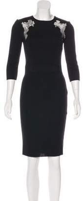 Giambattista Valli Long Sleeve Knee-Length Dress