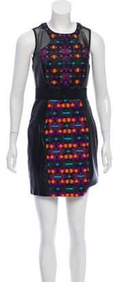 Milly Leather Mini Dress Black Leather Mini Dress